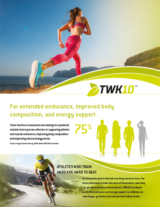 Harness the Gut-Muscle Axis: TWK10® Probiotic